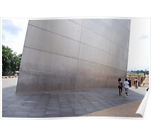 The Gateway Arch in St. Louis ~ At the very bottom Poster