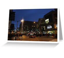 seattle christmas nights Greeting Card