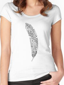 The Quill is mightier then the sword Women's Fitted Scoop T-Shirt