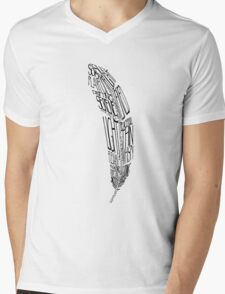 The Quill is mightier then the sword Mens V-Neck T-Shirt