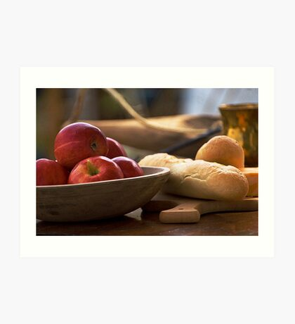 Apples and Bread Art Print