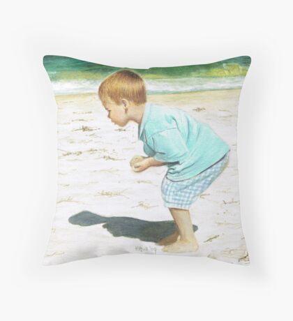 The Little Fossicker Throw Pillow