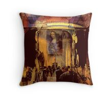 The 2100 auction painting.. resurfaces Throw Pillow