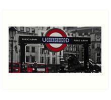 Charing Cross Tube Station Art Print