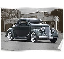 1936 Ford Deluxe Coupe Poster