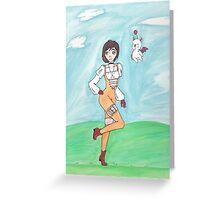 Watercolor Garnet Greeting Card