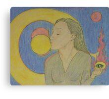 Third Eye Opening Kiss Canvas Print