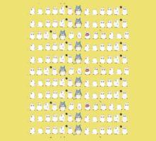Chibi-Totoro (tiled) Kids Tee