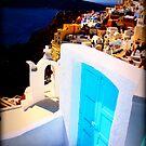 Santorini Door by lisacred