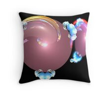 sunset with clouds on a small world Throw Pillow