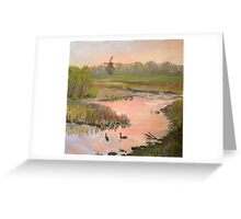 Windmill on the Waterfront Greeting Card