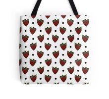 Strawberries and Black Polka Dots Tote Bag