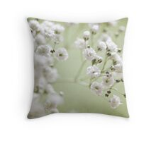 Lovely Baby's Breath Throw Pillow