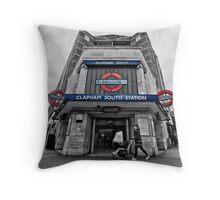 Clapham South Tube Station Throw Pillow