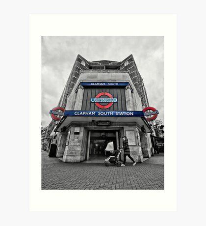 Clapham South Tube Station Art Print