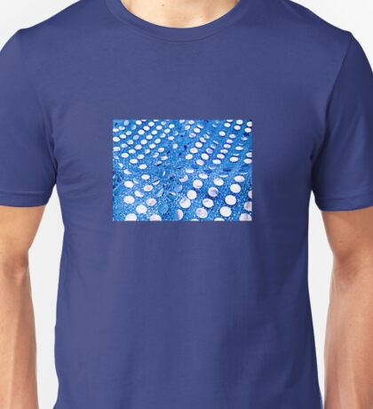 Blue Mirror Circles Unisex T-Shirt