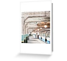 Cockfosters Tube Station Greeting Card