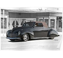 1938 Lincoln Zephyr Convertible Coupe Poster