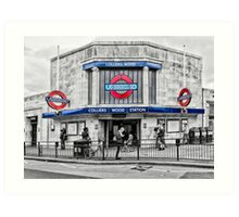 Colliers Wood Tube Station Art Print