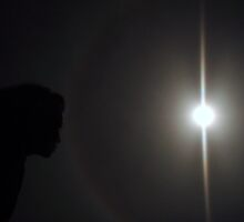 Kissing a Moonbow, Please Enlarge! by Lesley Ortiz