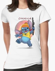 Ohana: Firefly/Stitch Mashup Womens Fitted T-Shirt