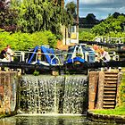 Working Down The Locks - Stoke Bruerne by SimplyScene