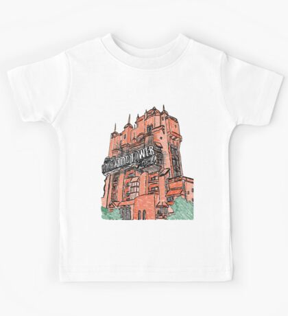 Hollywood Tower!  Kids Tee