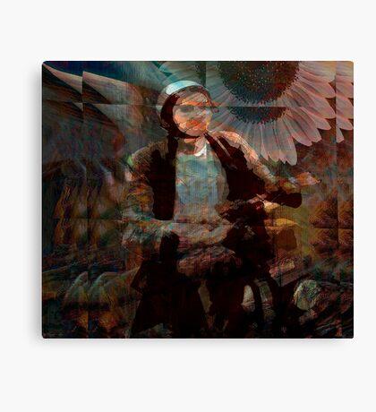 biking through vincent's dream... Canvas Print