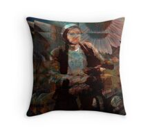 biking through vincent's dream... Throw Pillow