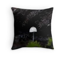 Small and Alone Throw Pillow