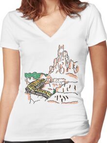 Big Thunder Mountain! Women's Fitted V-Neck T-Shirt
