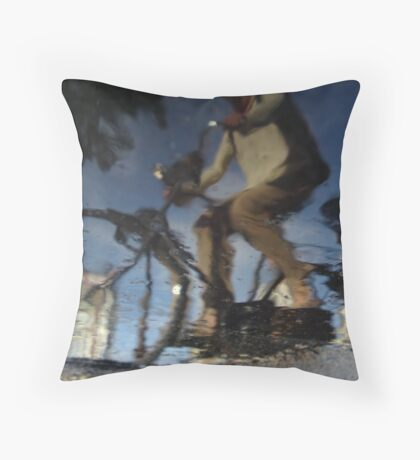 Reflections of Amsterdam - Wavy Gravy Throw Pillow