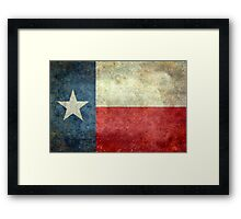 """The """"Lone Star Flag"""" of The Lone State Texas Framed Print"""