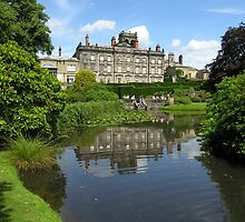 Biddulph Grange's main façade, seen across the pond (central England) by Philip Mitchell