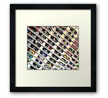 Wall of Shades Framed Print