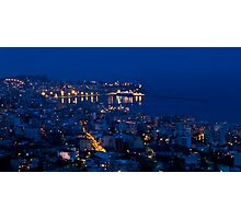 Kavala by night. Photographic Print