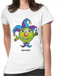 Joker Ball Womens Fitted T-Shirt