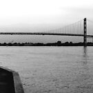 Ambassador Bridge ( panoramic ) by Barry W  King