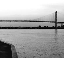 Ambassador Bridge ( panoramic ) by Barry W  King