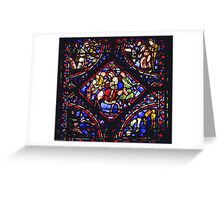 Troyes Cathedral Window Flight into Egypt 19840506 0020 Greeting Card