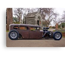 Rat Rod Sedan 'Grave Intention' Canvas Print