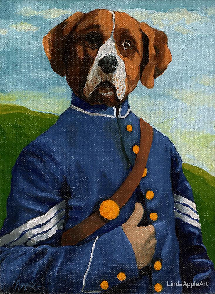 Reginald Biggs - civil war dog - oil painting by LindaAppleArt