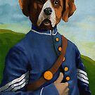 Reginald Biggs - civil war dog - oil painting by LindaAppleArt