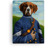 Reginald Biggs - civil war dog - oil painting Canvas Print