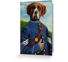 Reginald Biggs - civil war dog - oil painting Greeting Card