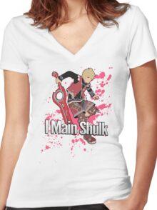 I Main Shulk - Super Smash Bros. Women's Fitted V-Neck T-Shirt
