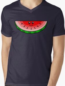 Cute Watermelon Mens V-Neck T-Shirt