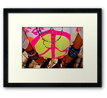Color my life with peace Framed Print