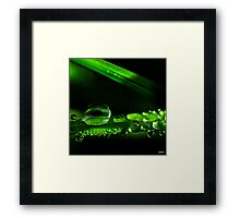 Droplets Framed Print