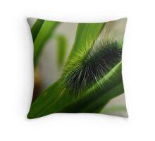 Fluffy Caterpillar Throw Pillow